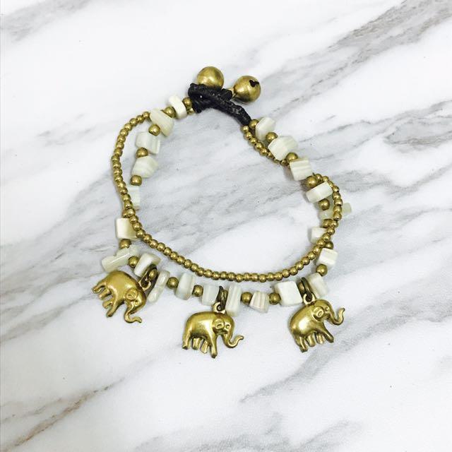 民族風格 鈴鐺大象手鍊