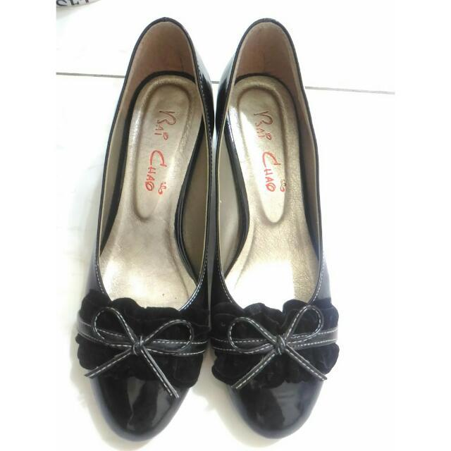 黑色蝴蝶結低跟鞋 #交換最划算