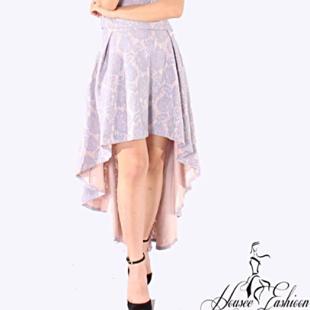 🆕 Grey Purple High Low Skirt