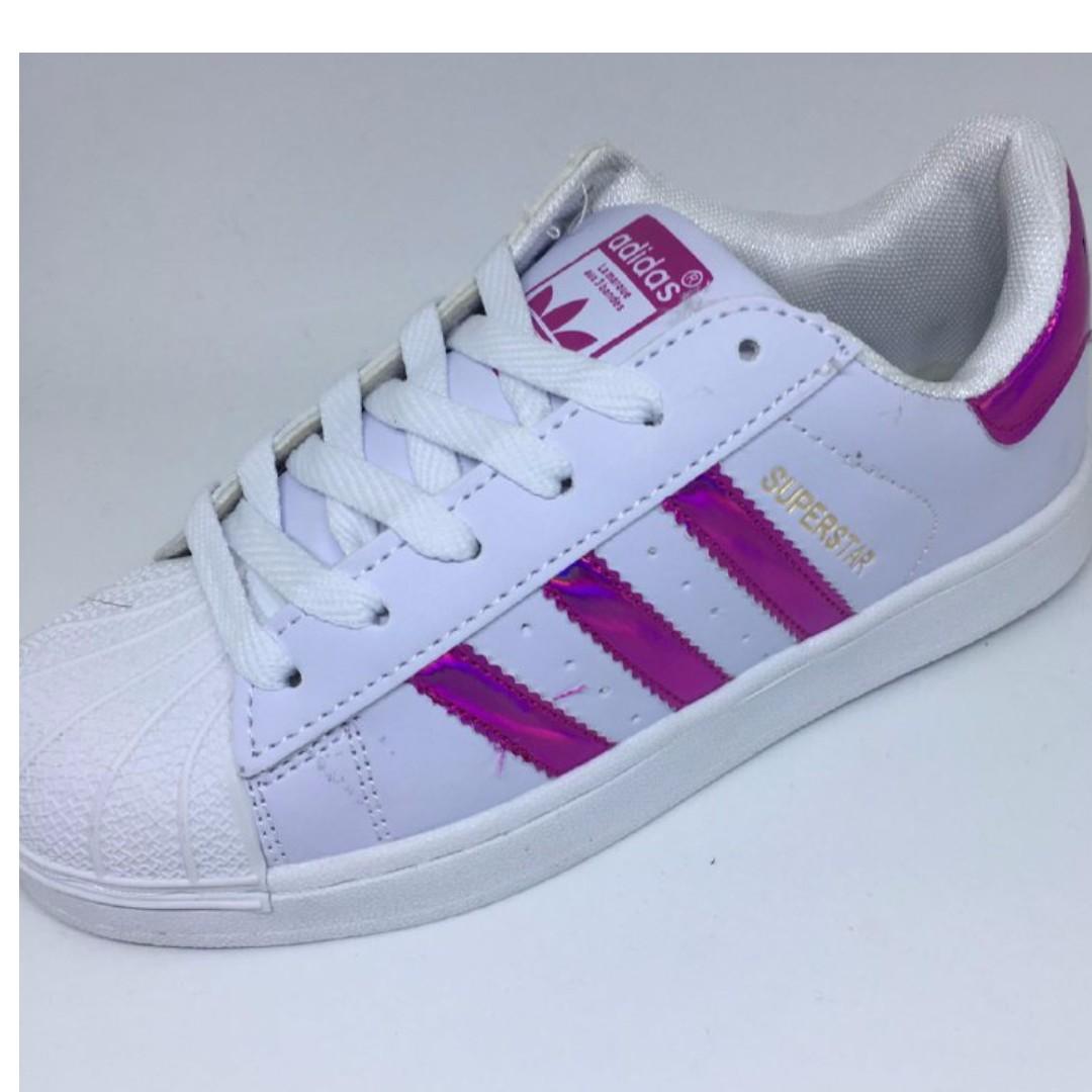 Adidas Superstar Pink Metallic & Adidas Atan Smith Green, Women's ...