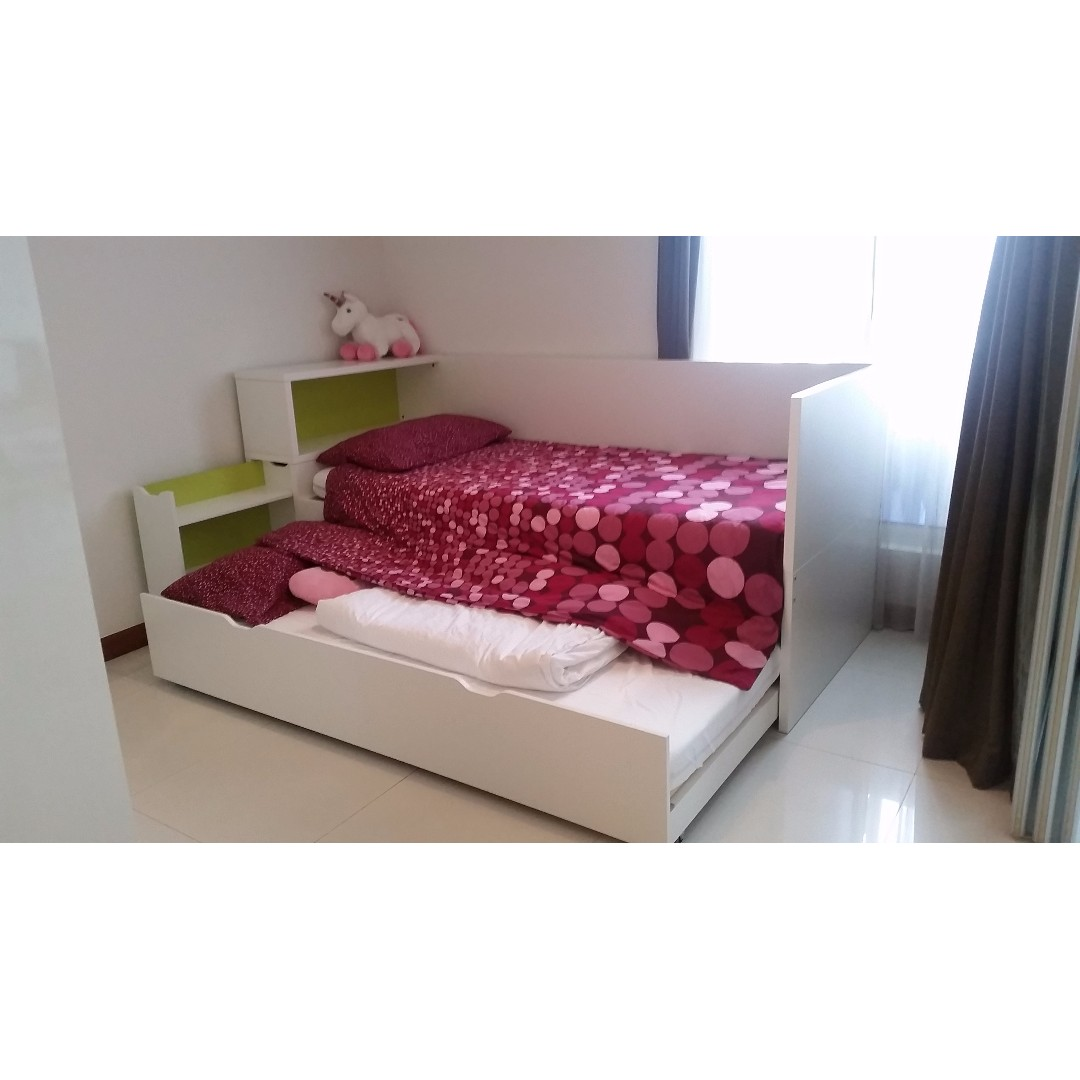 Amazing Childrens Bed With Roll Out Trundle Bed Perfect For The
