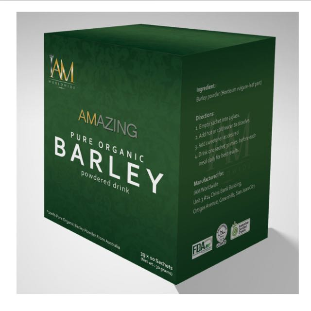 SALE 20% OFF!!! IAMWORLDWIDE Organic Pure Barley Powdered Drink