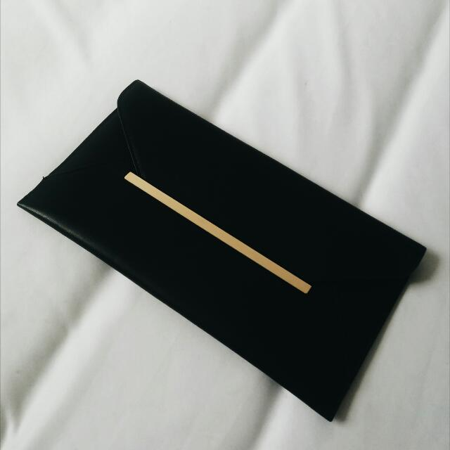 ASOS Black Clutch
