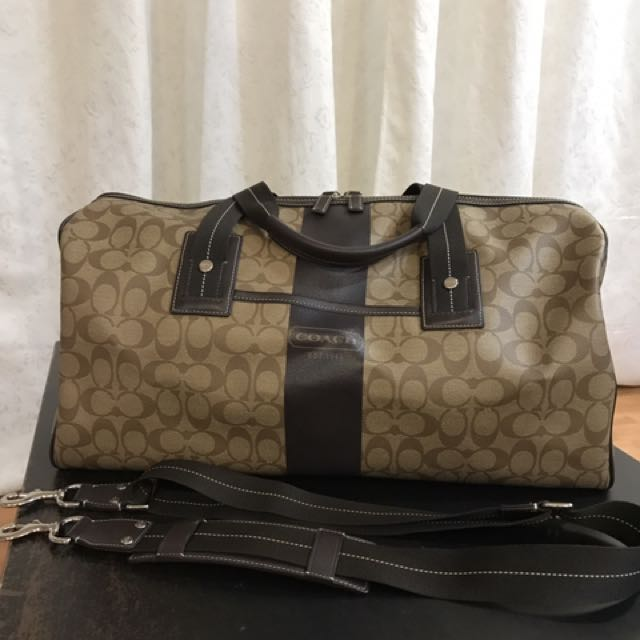 ... f93456 93456 charcoal x black signature explorer roller duffel outlet  new zealand authentic coach travel bag luxury bags wallets on carousell  3502e ... 3abdacf312db8