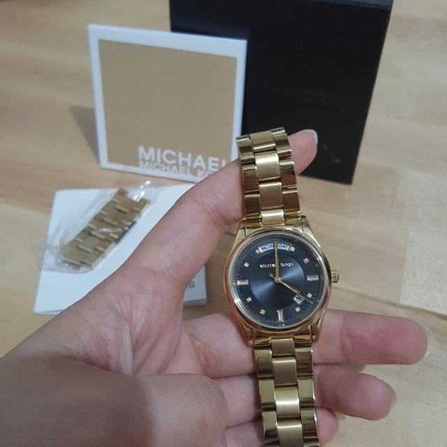 authentic michael kors gold watch