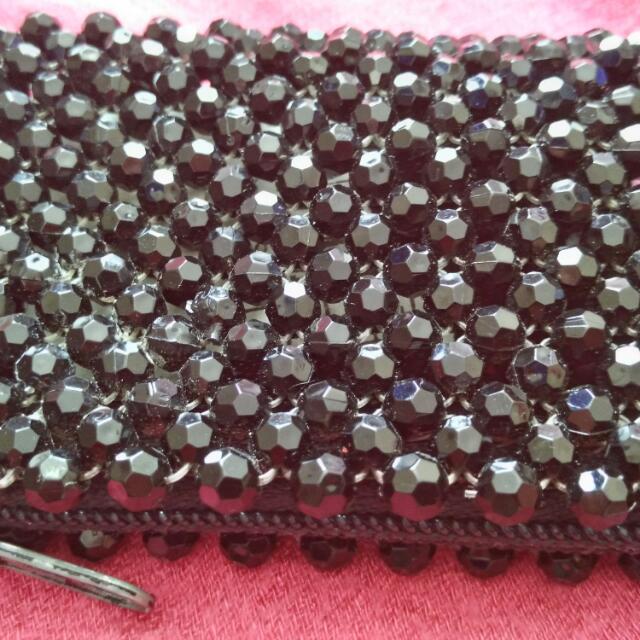 Black Beads Coin Purse