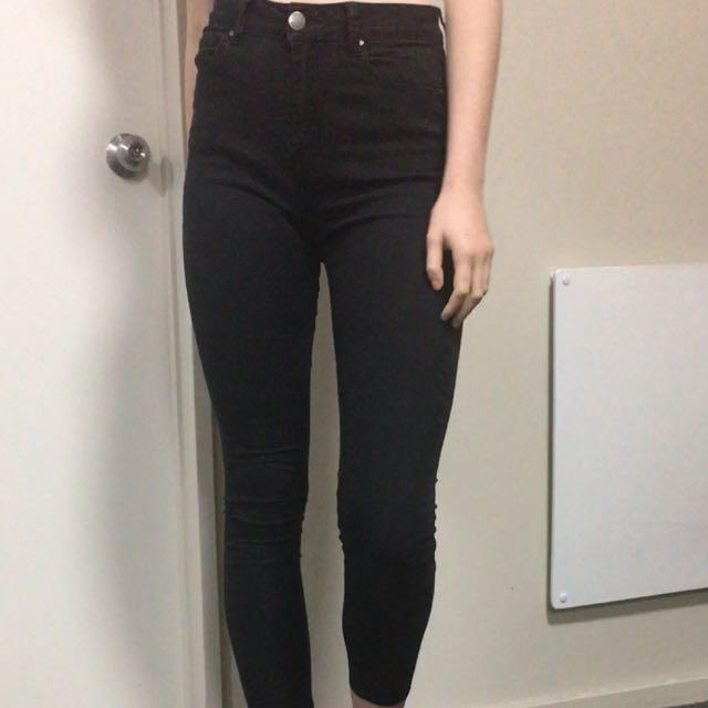 Black Denim High Waisted Jeans