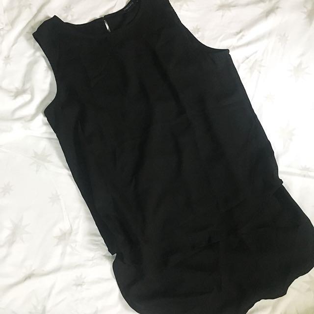Black Double Sheer Top