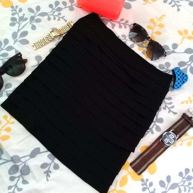 Black Garterized Skirt 🌸