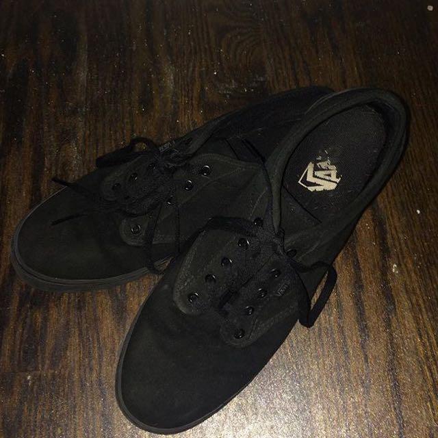 Black Vans Size 9