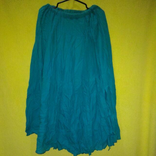 Blue Green Maxi Skirt