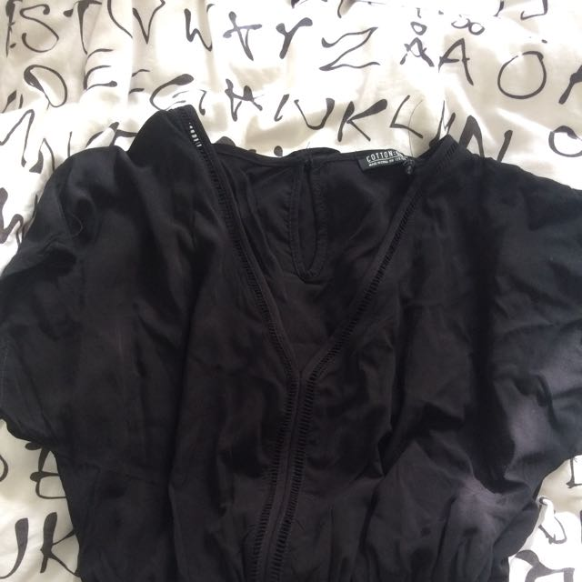 BN Cotton On Black Playsuit