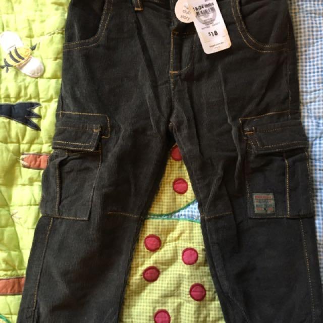 Brand New Size 2 Corduroy Pants