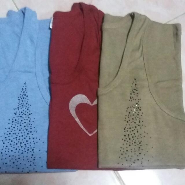 Bundle Of 3 Sando/sleeveless