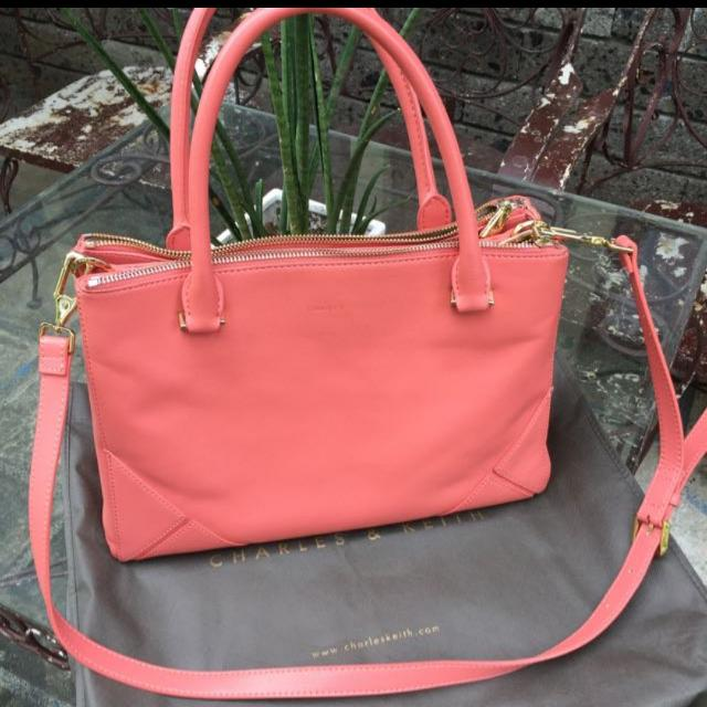 Rush Sale: Charles And Keith Salmon Sling Bag