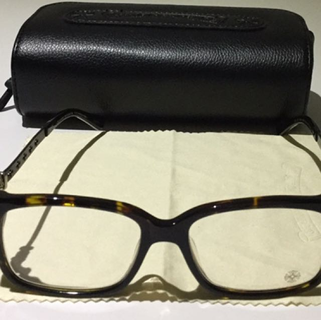 Chrome Hearts Instabone Tourtishell Spectacle Frames Made In Japan RRP $650