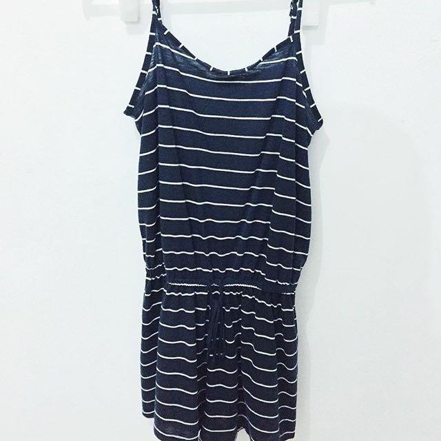 Cotton On Striped Short Jumpsuit