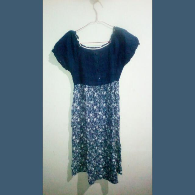 Dress Bunga Kerut