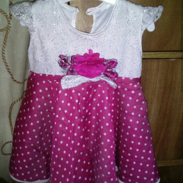 Dress Polkadot Pink