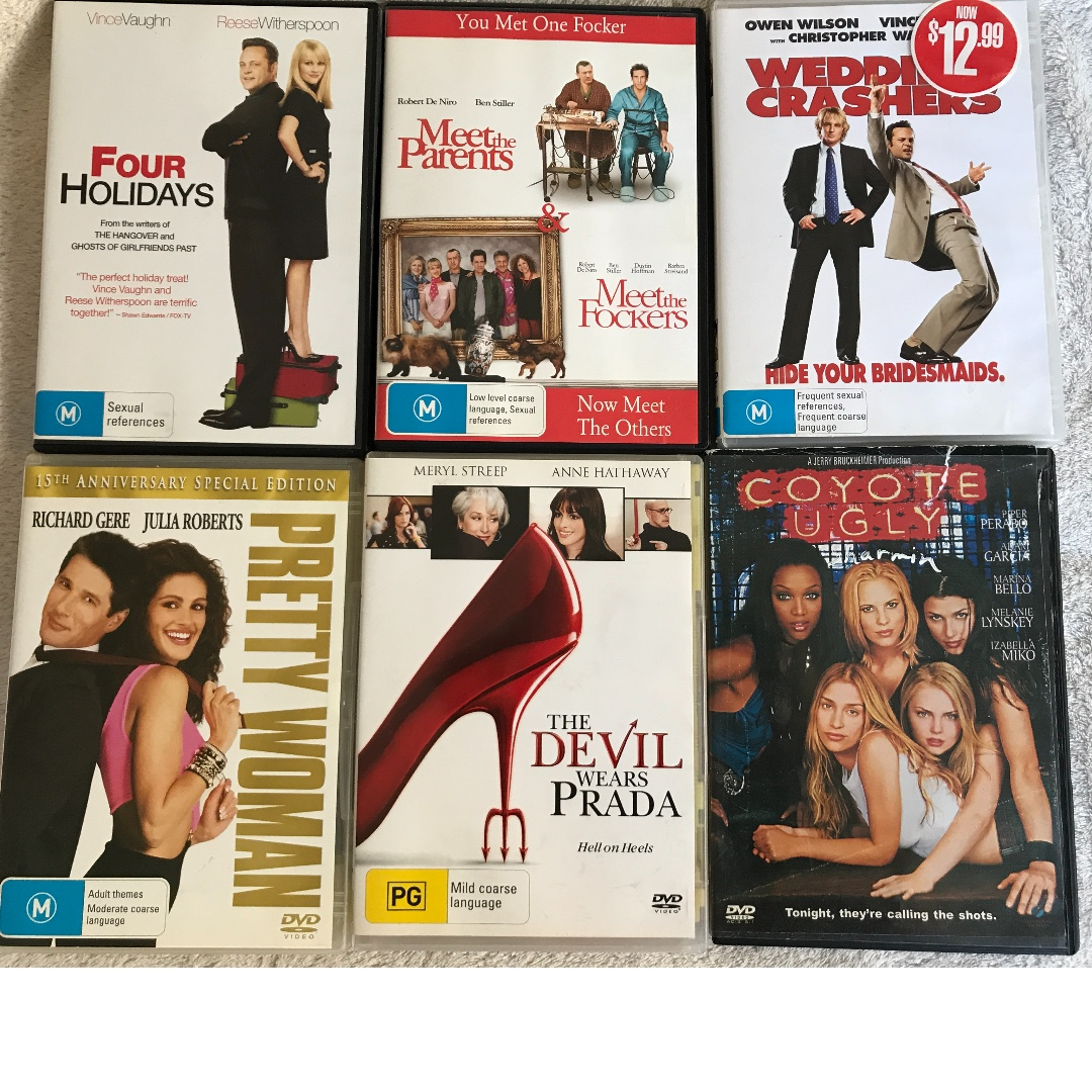 DVDs 18 x Films Comedy, Action, etc