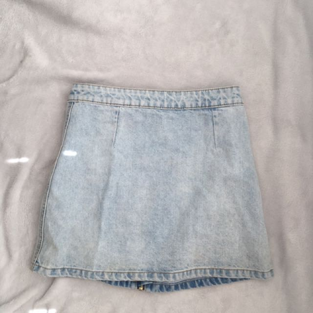 Faded Style Denim Skirt