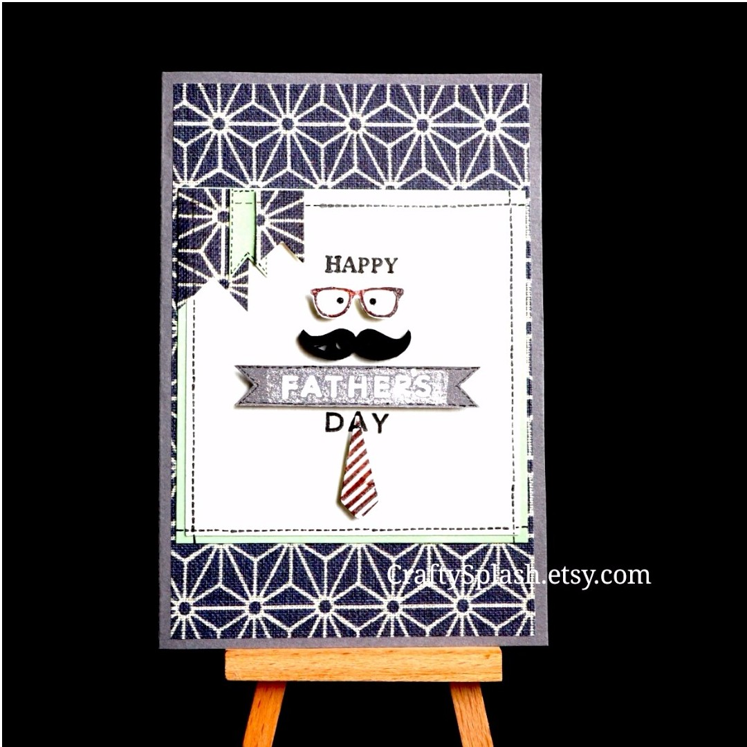Fathers Day Card Fathers Day Gift Handmade Happy Fathers Day