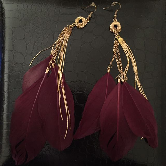 Feather Earrings From River Island