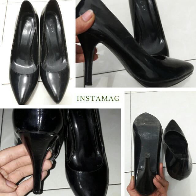 Reprice FLD Black Heels