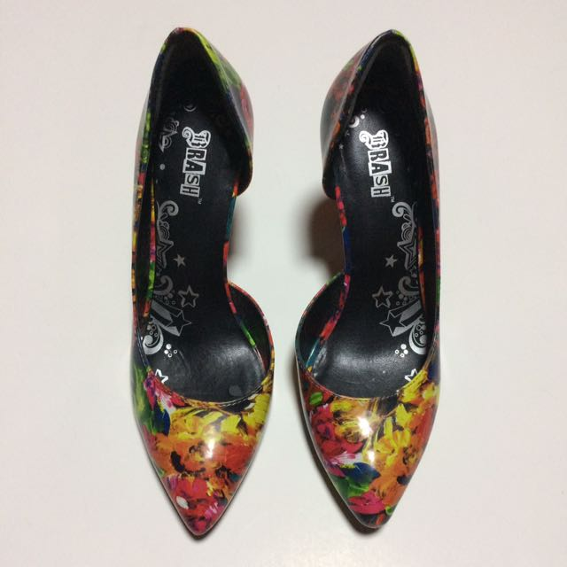 Floral High Heeled Pump Shoes