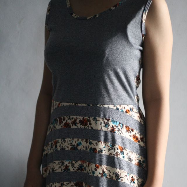 Floral stripe dress by Luna Maya