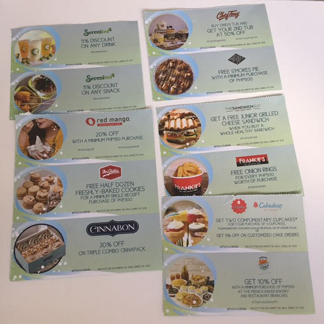 Food DISCOUNT AND FREEBIES coupon
