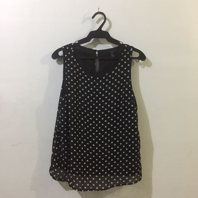 FOREVER 21 POLKA TOP