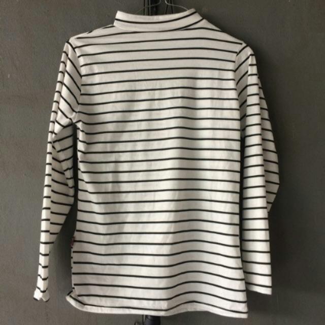 Free Ongkir Stripe White
