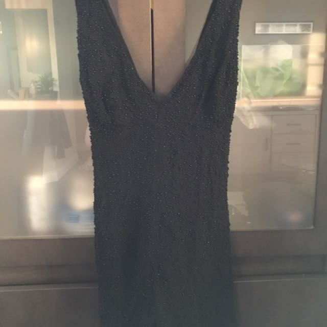 French Connection Black Beaded Jumper