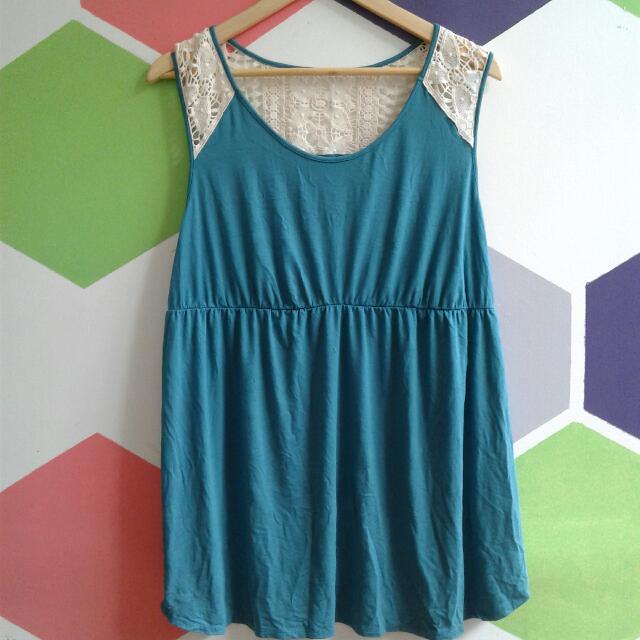 Green Crochet Blouse