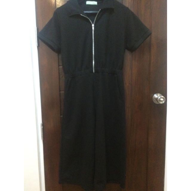 GTW Zip Up Culotte Jumpsuit