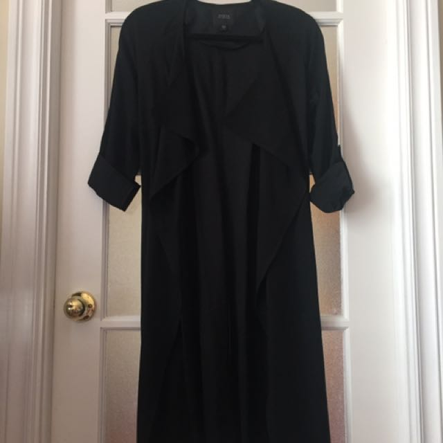 Guess Black Trench Coat (x-small)