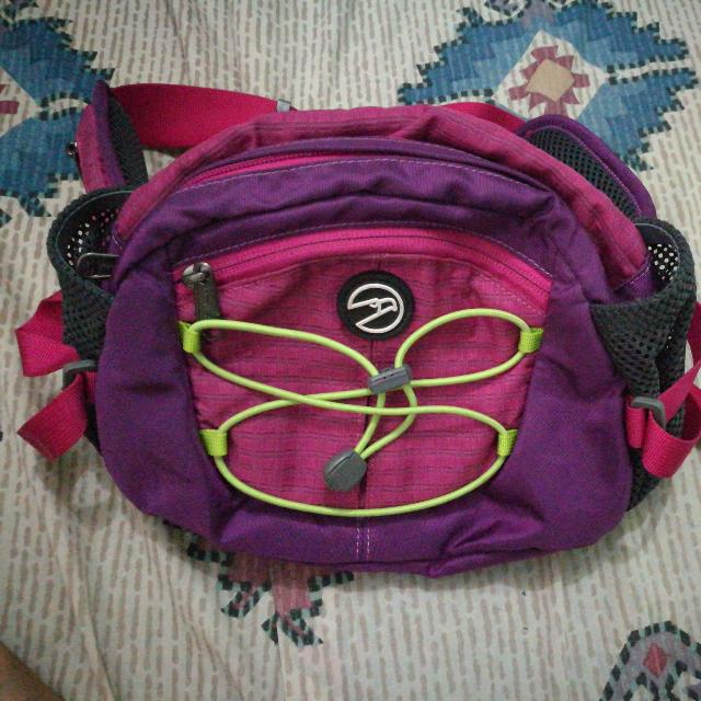 Hawk Purple And Pink Belt Bag