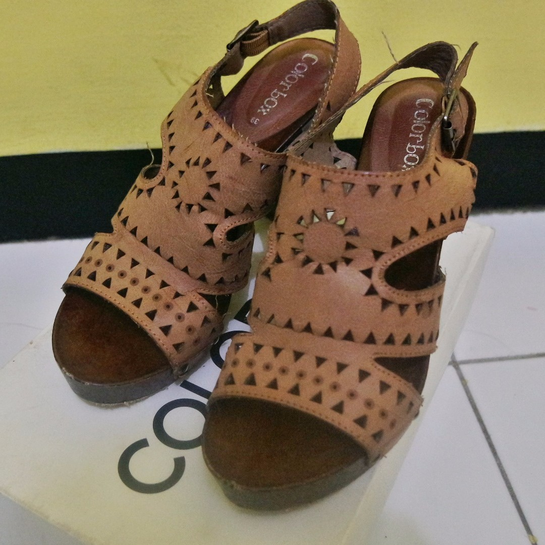 "Heels Wedges ""Color Box"" (free ongkir jabodetabek)"
