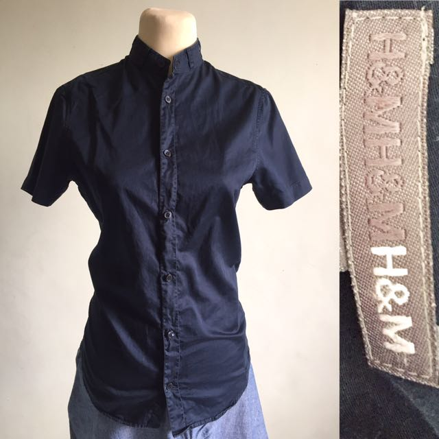 H&M Navy Blue Polo