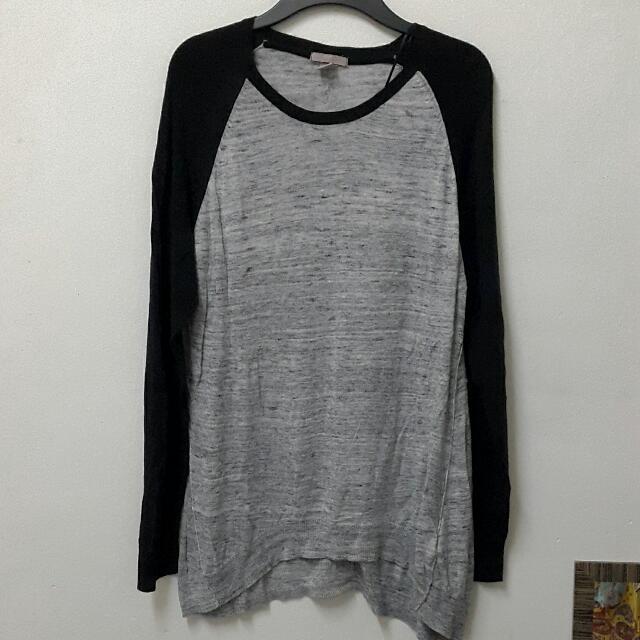 H&M Plus + Thin Knit Long Sleeve Top