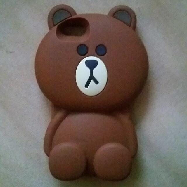 IPHONE SE Brown Bear Silicon Case