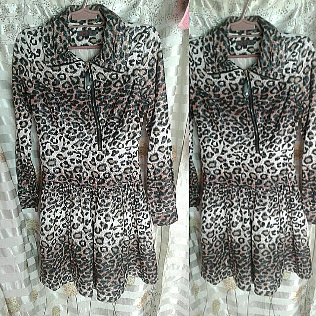 Jaguar Print Dress Coat