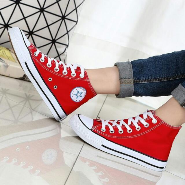 e078122c639f7f 🔥Korean Fashion Couple Multi Color Converse Inspired Casual High ...