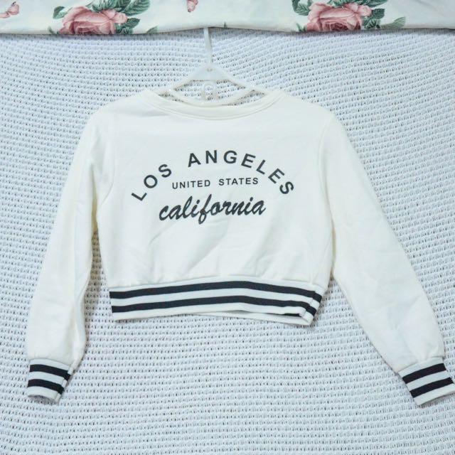 LA Long Sleeve Crop Top