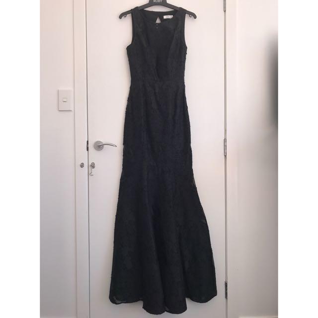 LIAM Black Ball Gown