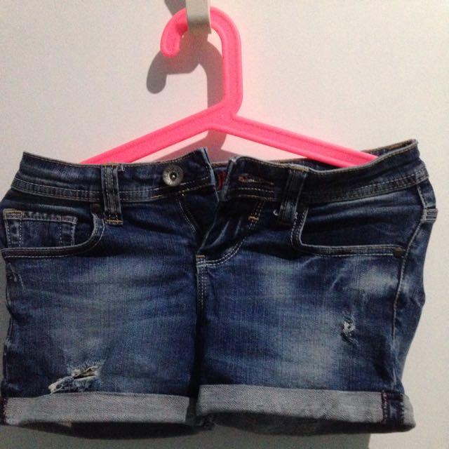 Logo Jeans denim short