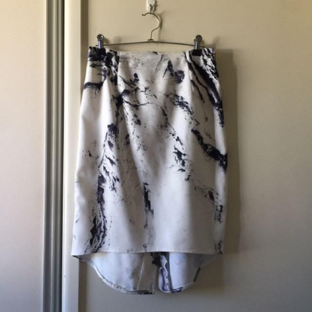Marble Print Skirt Size 10
