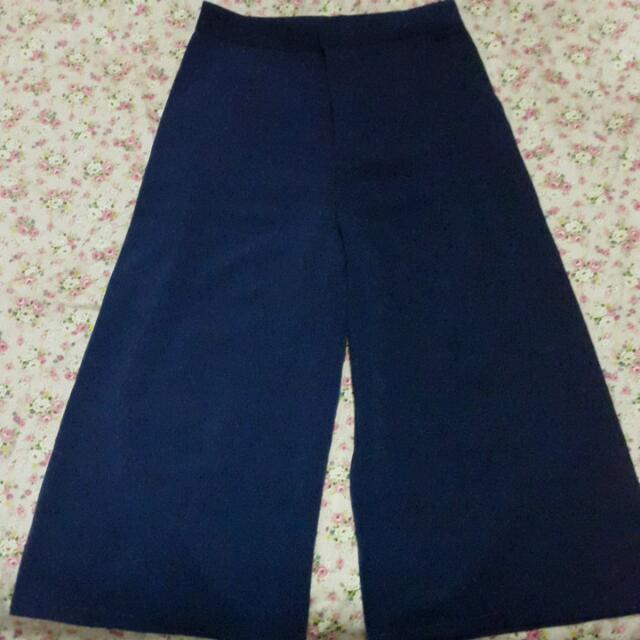 Navy Culot Pants