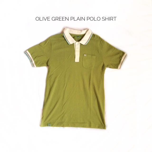 Olive Green Plain Polo Shirt